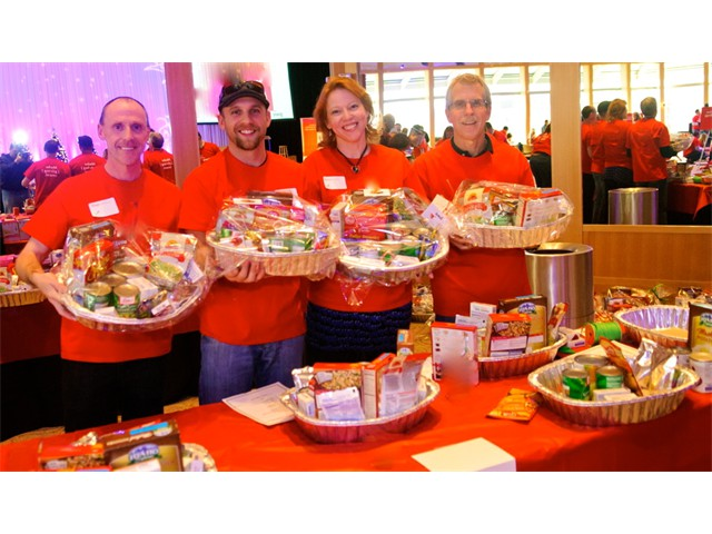 Hands-On Giving - Assembling Food Baskets for The Food Bank of the Rockies